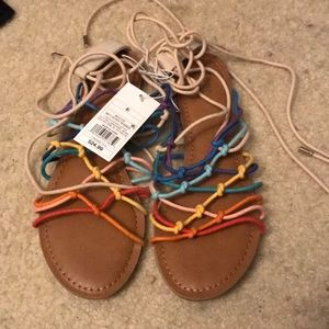 Shoes - Mossimo Lace Up Sandals | NEW WITH TAGS